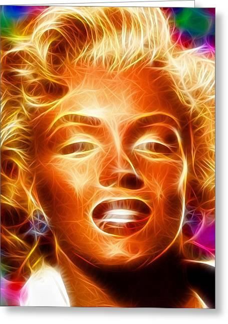 Starlet Drawings Greeting Cards - Magical Marilyn Too Greeting Card by Paul Van Scott