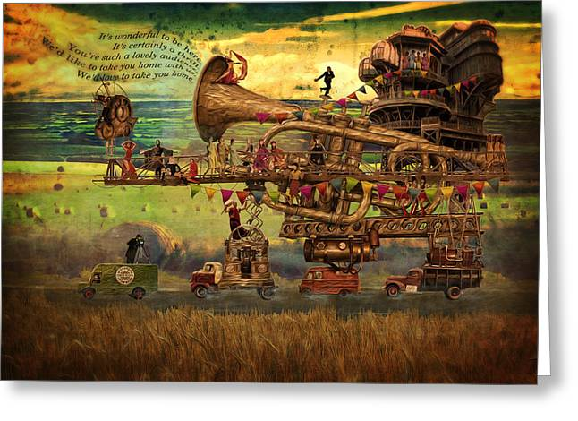 Magical Mystery Tour Greeting Card by Duncan Roberts