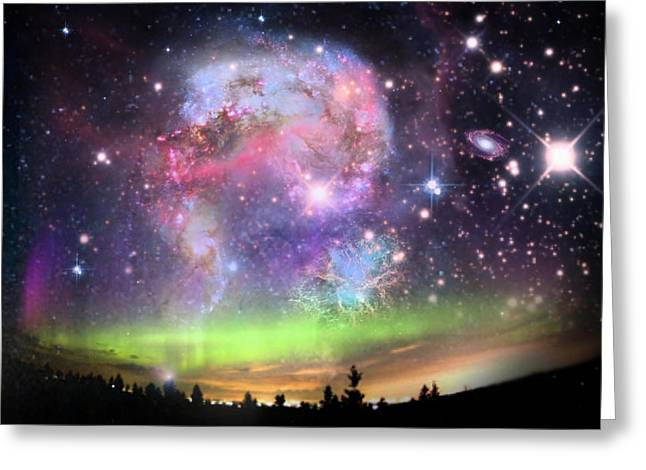Creative Manipulation Digital Greeting Cards - Jewels In The Sky Greeting Card by Ester  Rogers