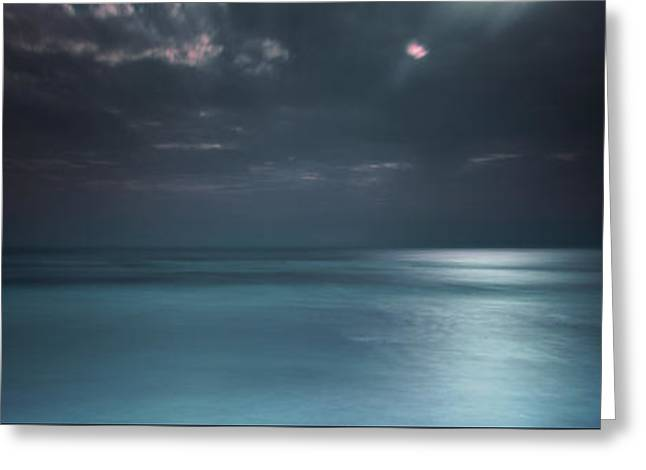 Magical Night On The Beach Greeting Card by Marco Crupi