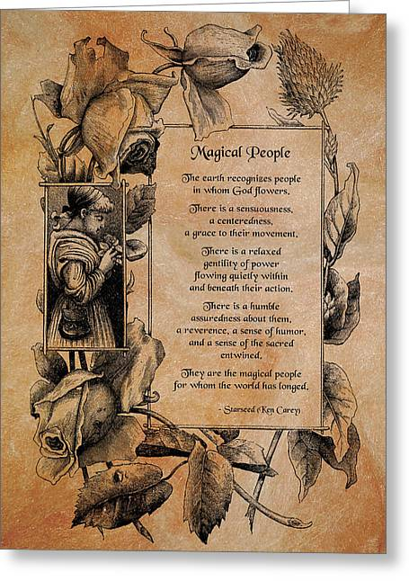 Stir Up. Support Greeting Cards - Magical People Greeting Card by Mike Flynn
