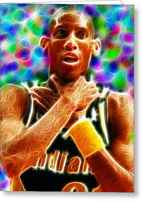 Magical Reggie Miller Choke Greeting Card by Paul Van Scott