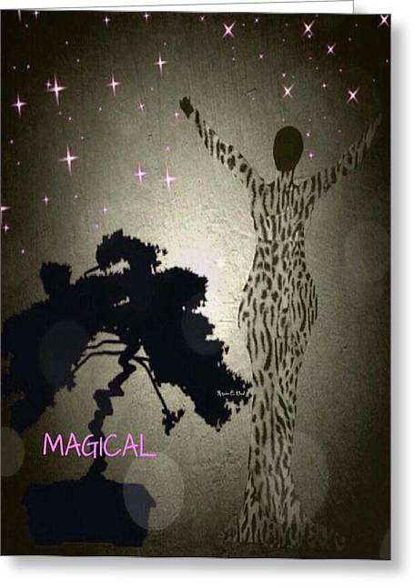 Romaine Digital Art Greeting Cards - Magical Greeting Card by Romaine Head