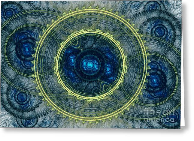 Modern Digital Art Digital Art Greeting Cards - Magical seal of the sea Greeting Card by Martin Capek