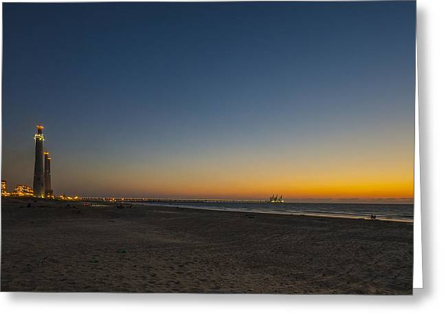 magical sunset moments at Caesarea  Greeting Card by Ron Shoshani