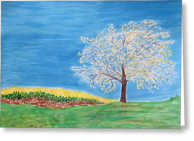 Dwell Greeting Cards - Magical wish tree Greeting Card by Sonali Gangane