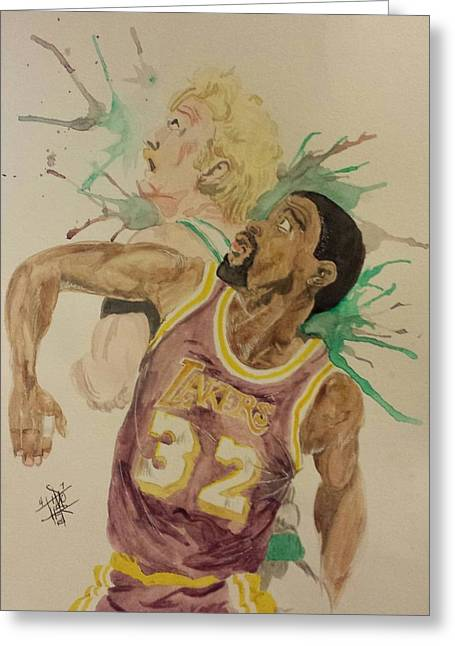 Larry Bird Greeting Cards - MagicBird Greeting Card by DMo Herr