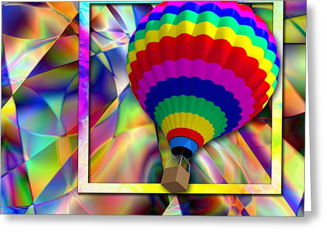 Abstract Digital Paintings Greeting Cards - Magificent Oz Greeting Card by Mark Compton