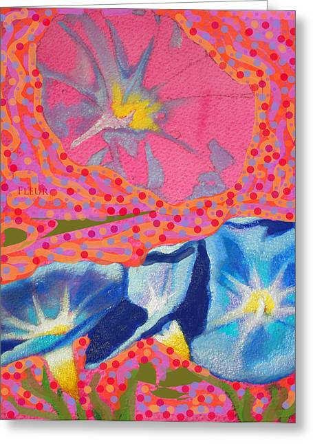 Image Of Morning Glory Greeting Cards - Magikal Fleur Greeting Card by Susi Franco