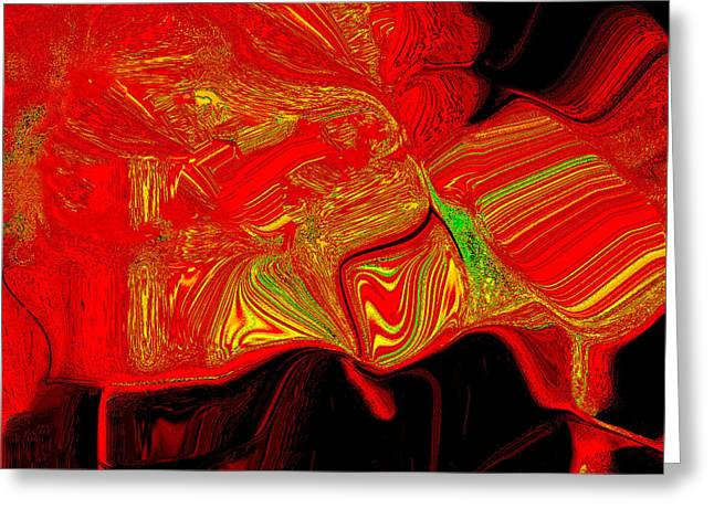 Photo Realism Greeting Cards - Magma Greeting Card by Bruce Iorio