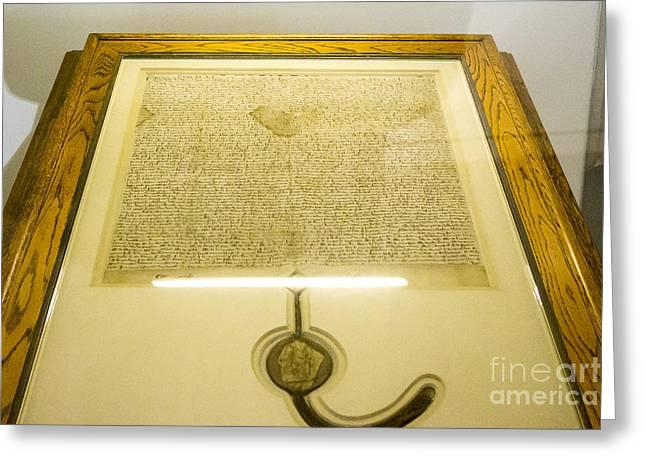 Steven Ralser Greeting Cards - Magna Carta Greeting Card by Steven Ralser