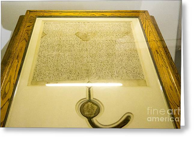 Magna Carta Greeting Card by Steven Ralser