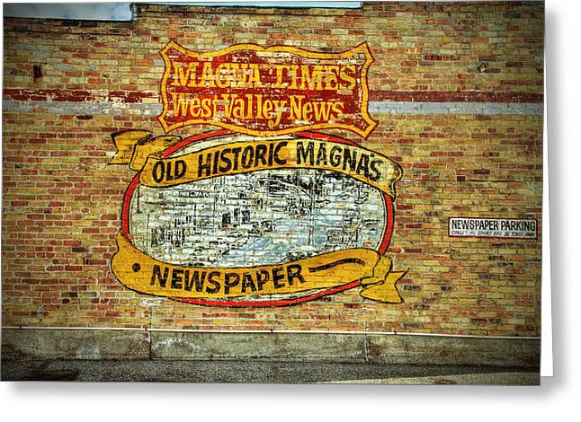 Newspaper Publisher Greeting Cards - Magna Times Newspaper Greeting Card by Nick Gray