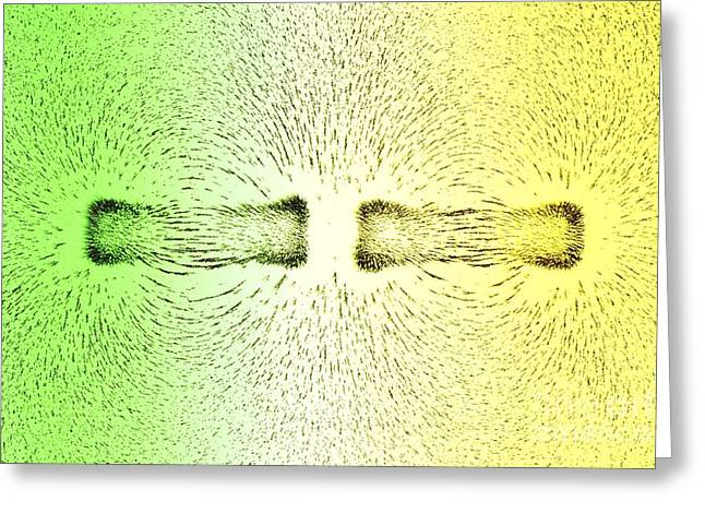 Magnetic Field Greeting Cards - Magnetic Repulsion Greeting Card by Martyn F. Chillmaid