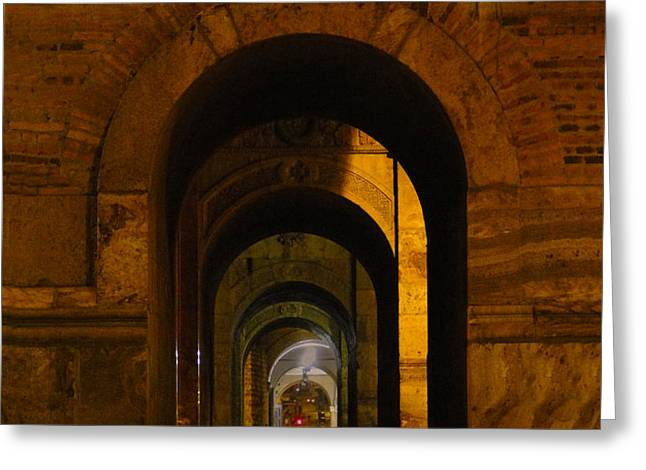 Magnificent Arches Greeting Card by Al Bourassa