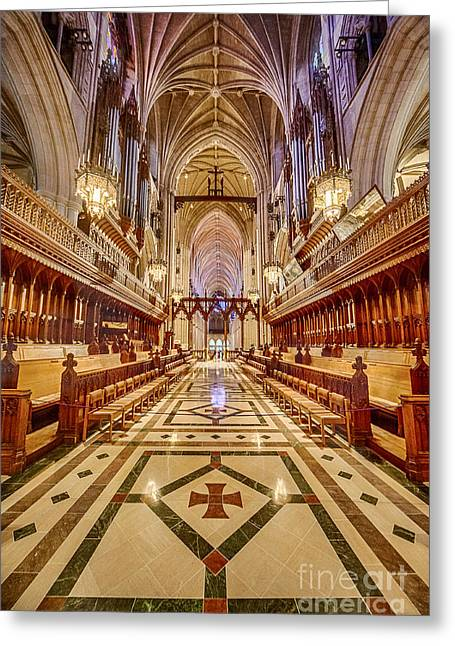 Neogothic Greeting Cards - Magnificent Cathedral IV Greeting Card by Ray Warren