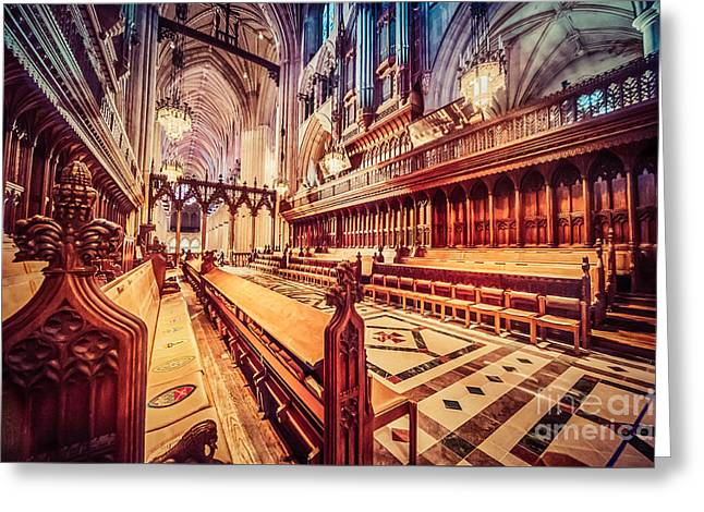 In-city Greeting Cards - Magnificent Cathedral Greeting Card by Ray Warren