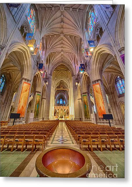 Neogothic Greeting Cards - Magnificent Cathedral V Greeting Card by Ray Warren