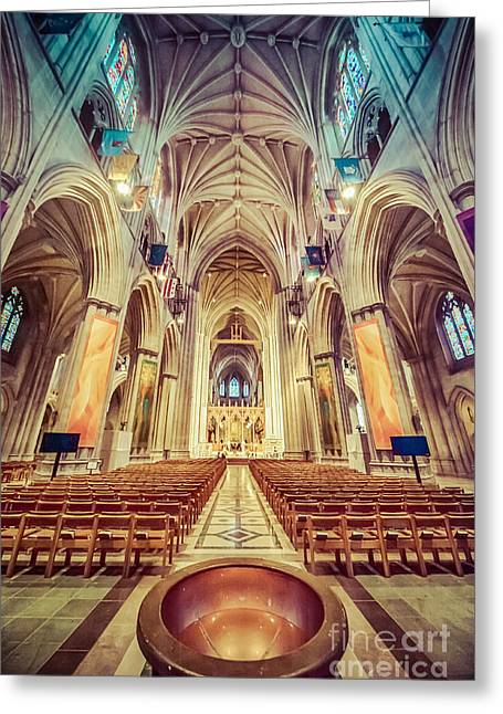 Neogothic Greeting Cards - Magnificent Cathedral V2 Greeting Card by Ray Warren