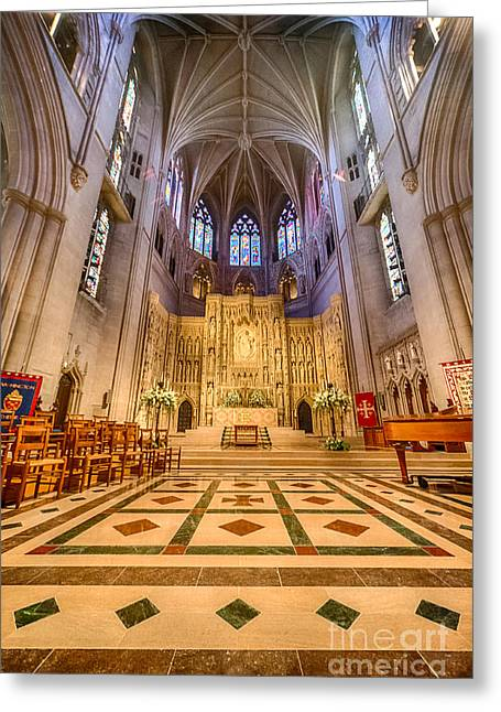 Neogothic Greeting Cards - Magnificent Cathedral VIII Greeting Card by Ray Warren