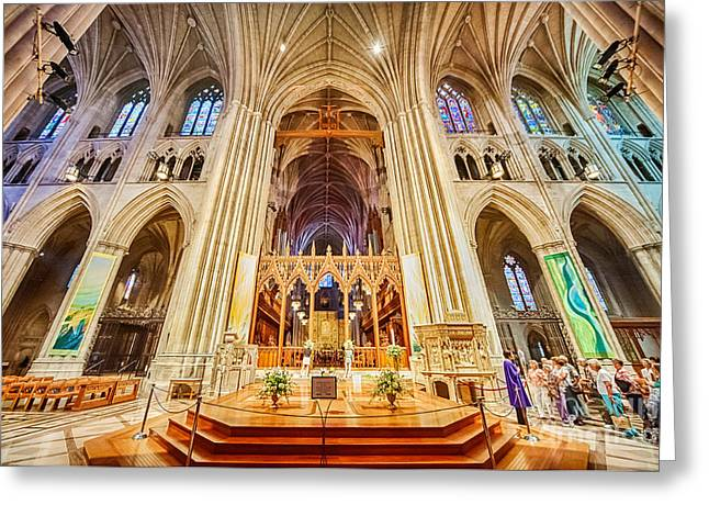 Neogothic Greeting Cards - Magnificent Catheral X Greeting Card by Ray Warren