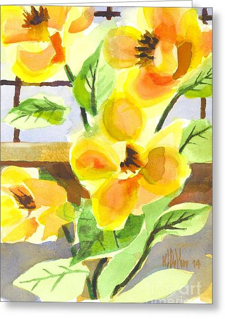 Green And Yellow Greeting Cards - Magnificent Magnolias  Greeting Card by Kip DeVore