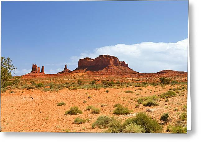 Twins Greeting Cards - Magnificent Monument Valley Greeting Card by Christine Till