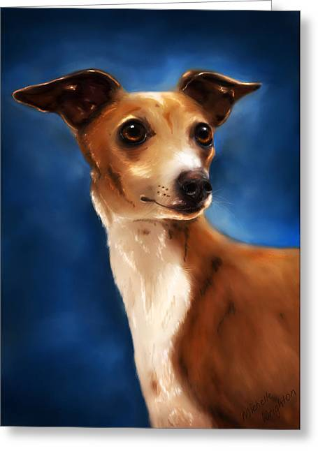 Greyhound Greeting Cards Greeting Cards - Magnifico - Italian Greyhound Greeting Card by Michelle Wrighton