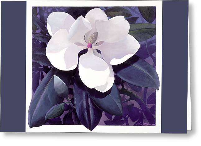 Blue Sky Greeting Cards - Magnolia Greeting Card by Blue Sky