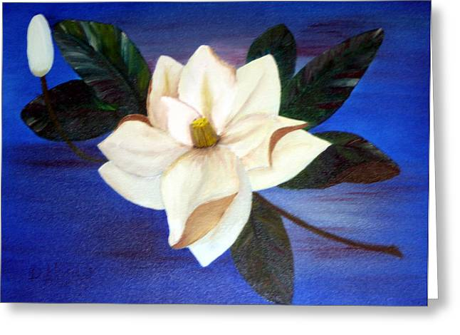 Sweet Touch Greeting Cards - Magnolia Greeting Card by Doris  Bailey
