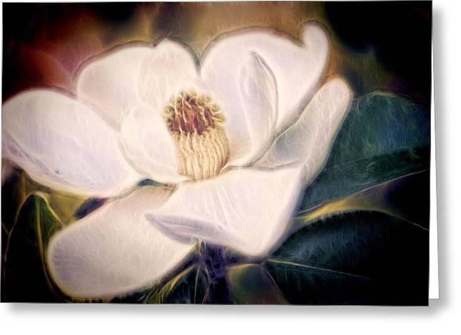Florida Flowers Greeting Cards - Magnolia Dream Greeting Card by Joetta West