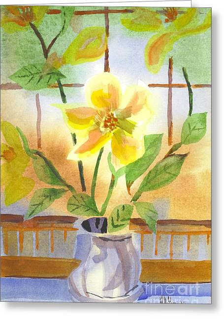 Green And Yellow Greeting Cards - Magnolia Greeting Card by Kip DeVore