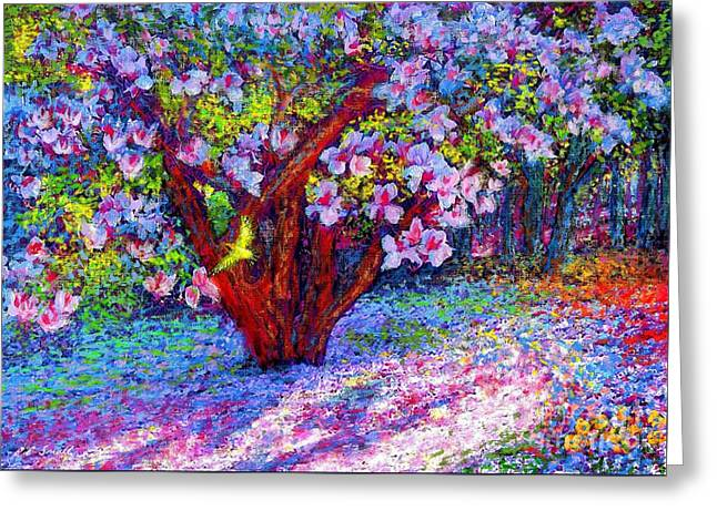 Tree Art Greeting Cards - Magnolia Melody Greeting Card by Jane Small