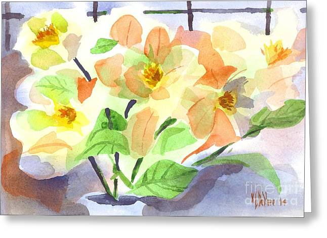 Green And Yellow Greeting Cards - Magnolias in Bloom Greeting Card by Kip DeVore
