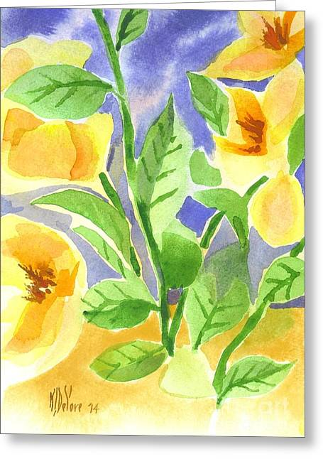 Green And Yellow Greeting Cards - Magnolia Magnificence  Greeting Card by Kip DeVore