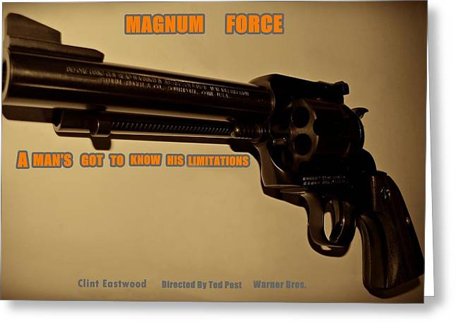 Movie Poster Gallery Greeting Cards - Magnum Force Custom Greeting Card by Movie Poster Prints