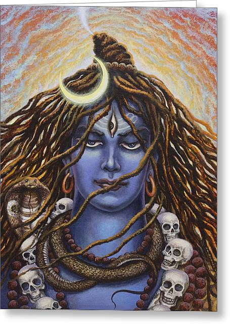 Samadhi Greeting Cards - Mahadev Greeting Card by Vrindavan Das