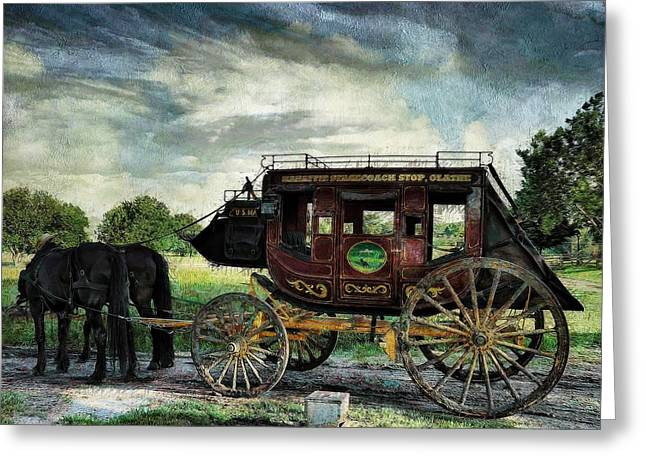 Historic Site Greeting Cards - Mahaffie Stagecoach Olathe Greeting Card by Liane Wright