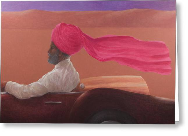 Driving Greeting Cards - Maharajah At Speed 2 Greeting Card by Lincoln Seligman