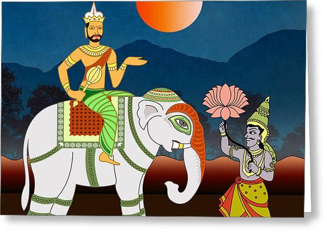 Royal Art Mixed Media Greeting Cards - Maharajahs Journey Greeting Card by Bedros Awak
