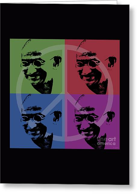Independance Greeting Cards - Mahatma Gandhi  Greeting Card by Jean luc Comperat