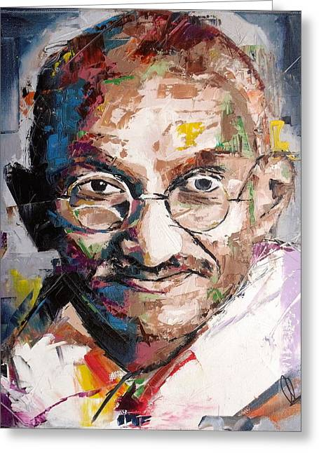 Mahatma Gandhi Greeting Card by Richard Day