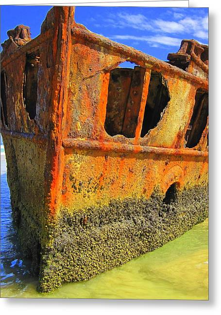 Maheno Shipwreck Greeting Card by Ramona Johnston
