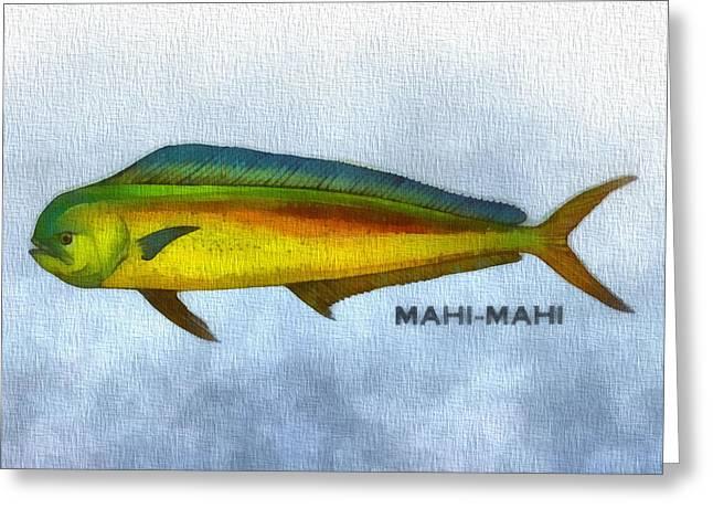 Colorful Photography Mixed Media Greeting Cards - Mahi Mahi Greeting Card by Dan Sproul