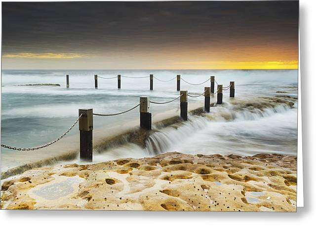 Mike Banks Greeting Cards - Mahon Pool Australia Greeting Card by Mike Banks