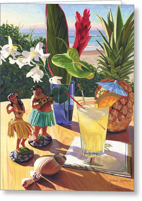 Bar Art Greeting Cards - Mai Tai Greeting Card by Steve Simon
