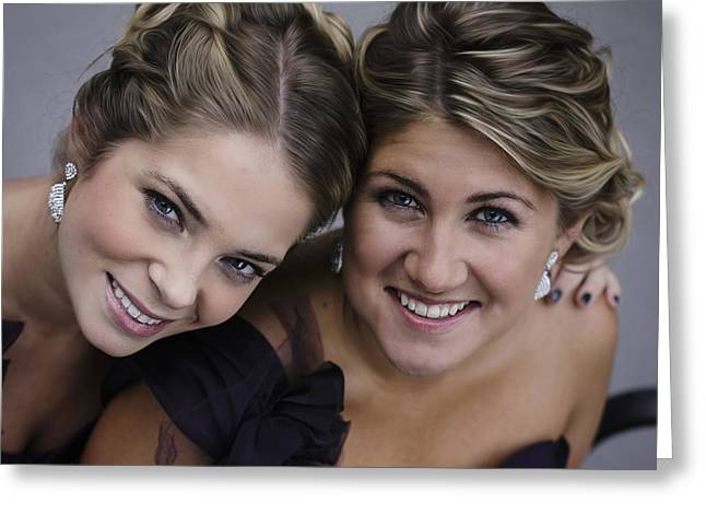Matron Greeting Cards - Maid and Matron of Honor Greeting Card by Rick Berk