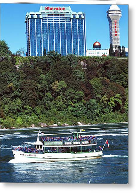 Maid Of The Mist Boat Ride To Falls Greeting Card by Panoramic Images