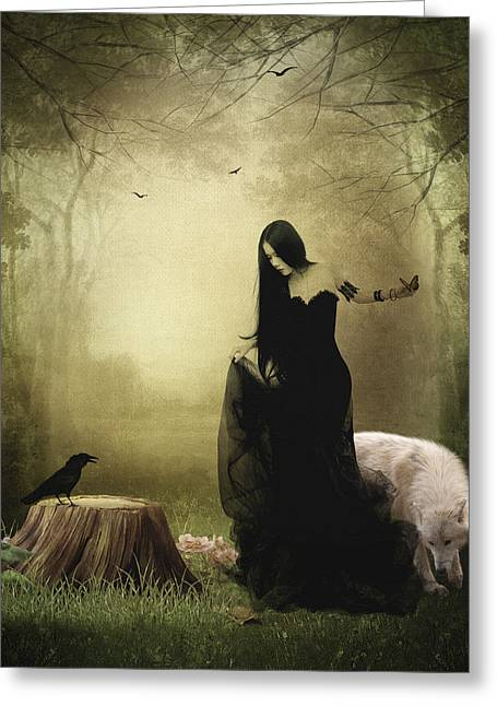 Maiden Of The Forest Greeting Card by Sharon Lisa Clarke