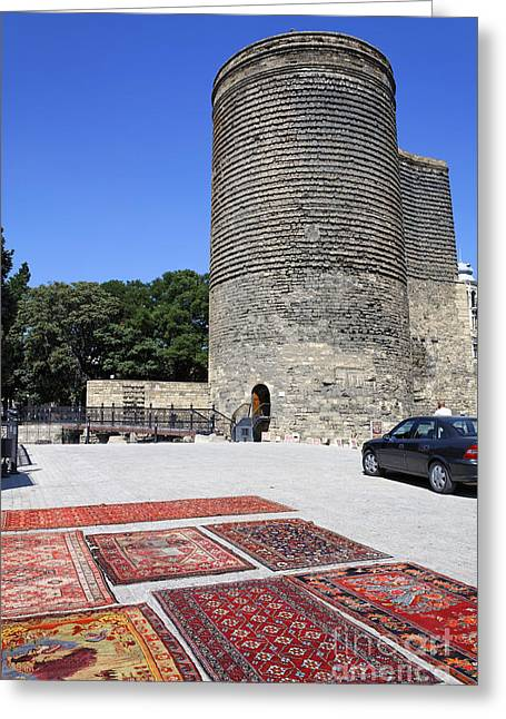 Maiden Greeting Cards - Maidens Tower in Baku Old Town Azerbaijan Greeting Card by Robert Preston